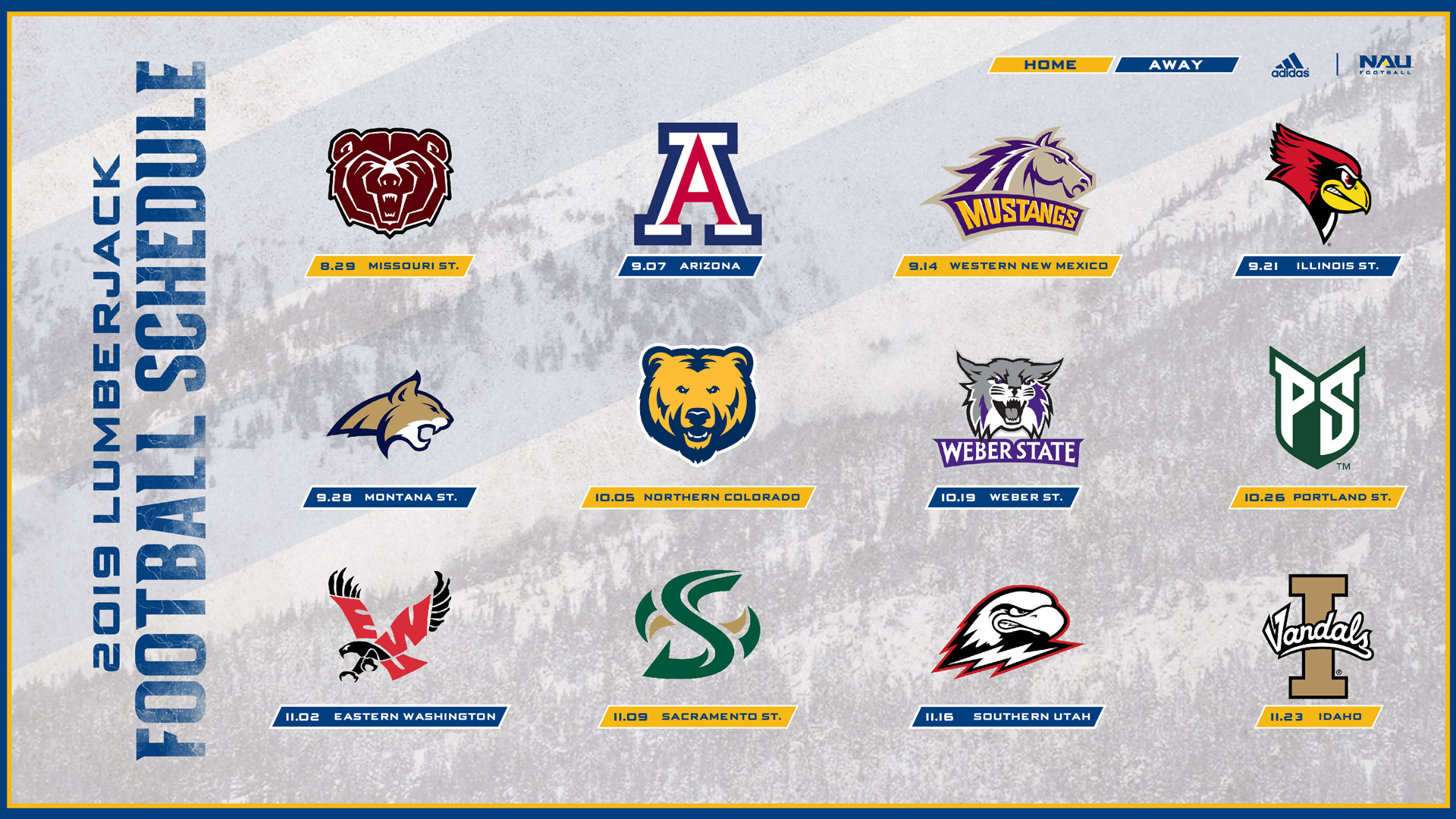 Six Home Games Highlight 2019 Northern Arizona Football Schedule